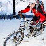 Как ездить на велосипеде по снегу